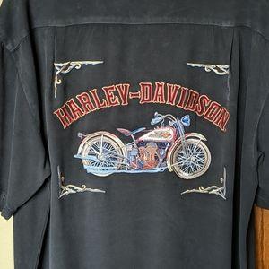 AWESOME Tommy Bahama Harley Davidson Camp Shirt